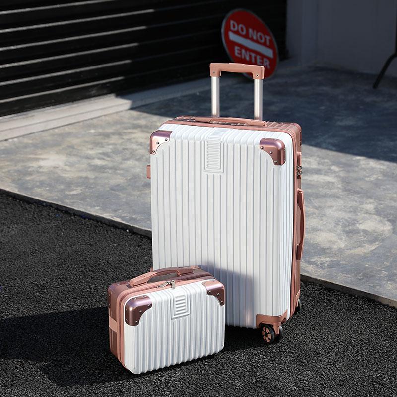 小清新子母行李箱女ins网红24寸旅行箱20寸小型轻便万向轮拉杆箱