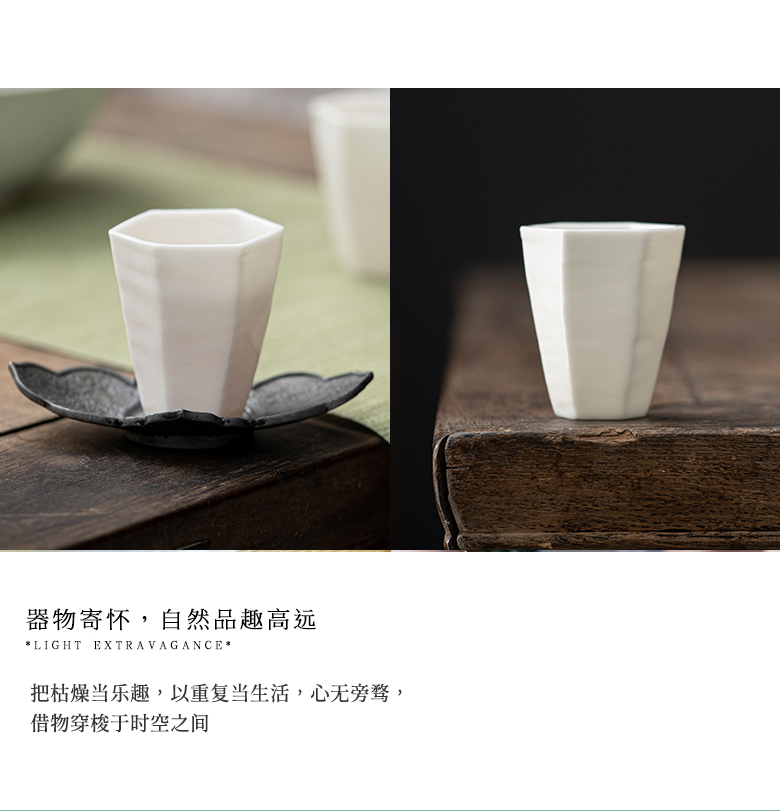 """The Self - """"appropriate content manually jade porcelain teacup hexagonal masters cup thin foetus kung fu tea sets a single cup sample tea cup"""