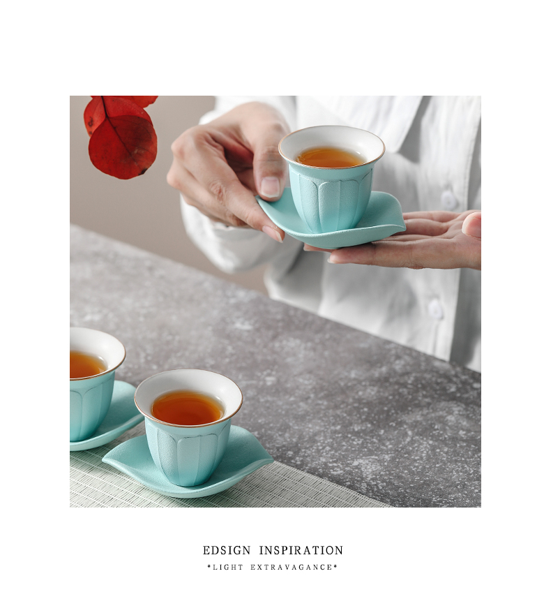 """The Self - """"appropriate content of jingdezhen ceramic sample tea cup cup and green contracted Japanese small cup single CPU kung fu tea set"""