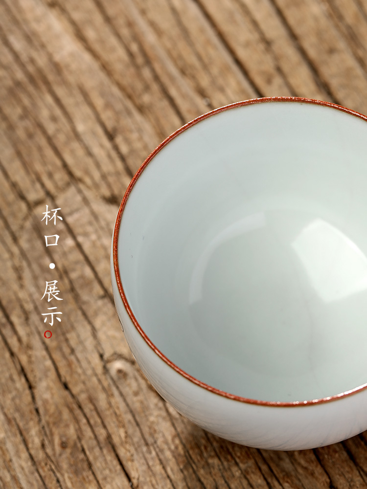 Hand your up jingdezhen kung fu tea master cup single CPU ceramic cups restoring ancient ways is pure manual sample tea cup
