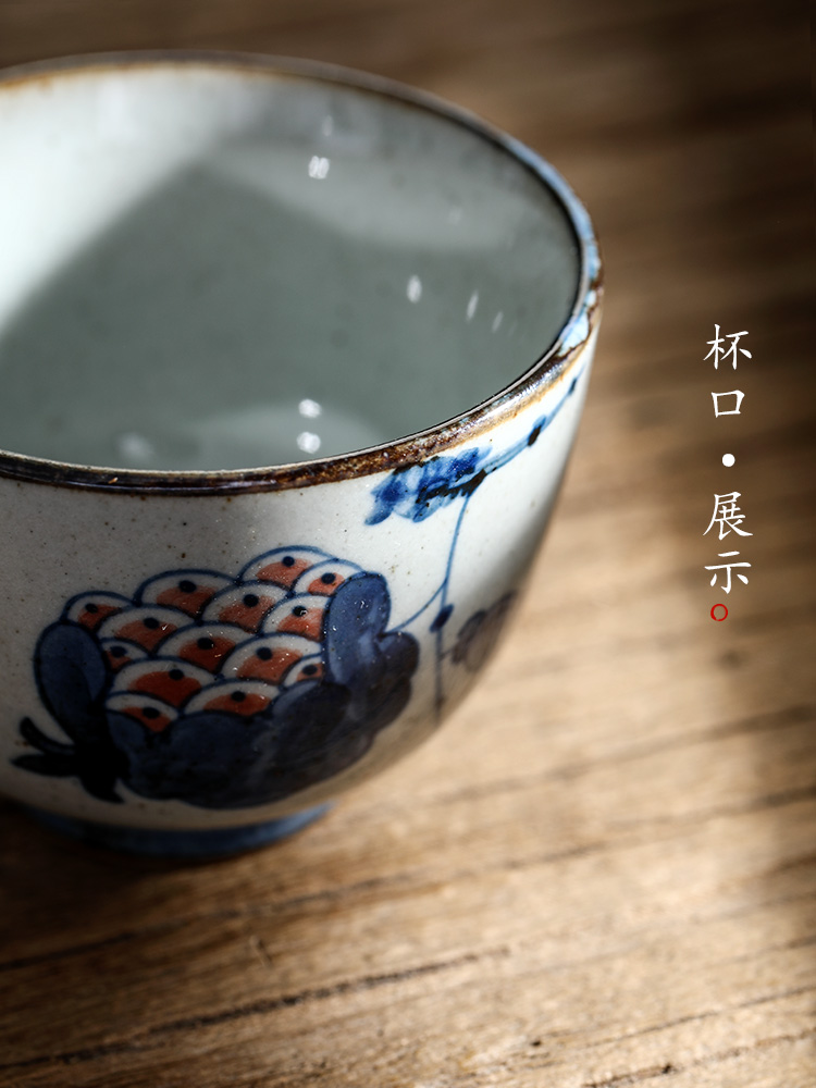 Jingdezhen porcelain teacup master cup single CPU checking clay kung fu tea tea set sample tea cup single only hand - made