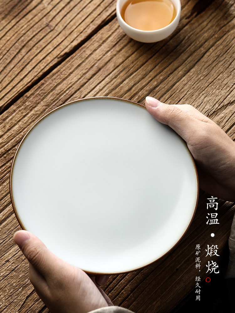 Jingdezhen your up pot of bearing dry Taiwan Japanese checking ceramic tea household cup mat ground tea accessories