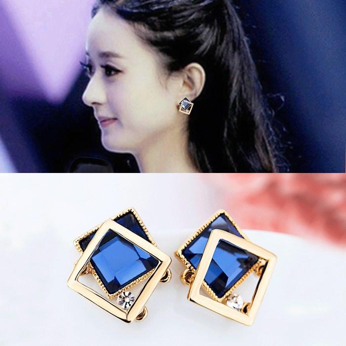 时尚耳环女立体方块几何耳钉女韩国气质防过敏耳坠简约个姓耳饰品