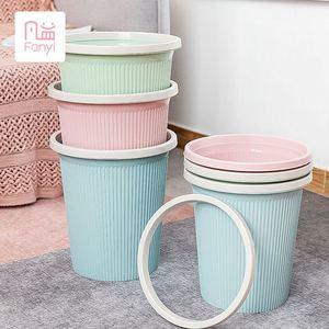 凡益日式2个装干湿分类垃圾桶厨房卫生间客厅带盖大号分类垃圾桶