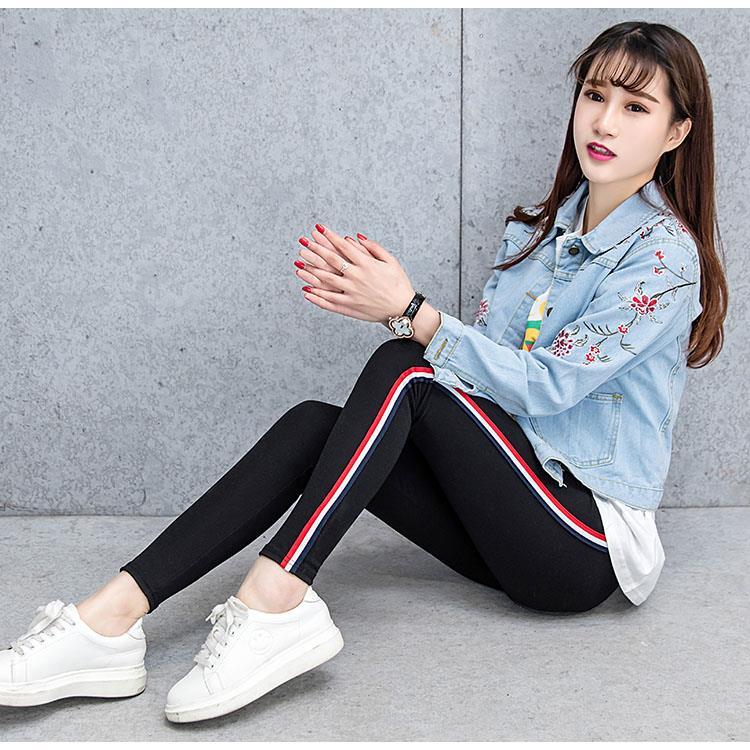女性青少年休闲时尚裤女外穿运动春秋款少女韩式弹力打底春季女款