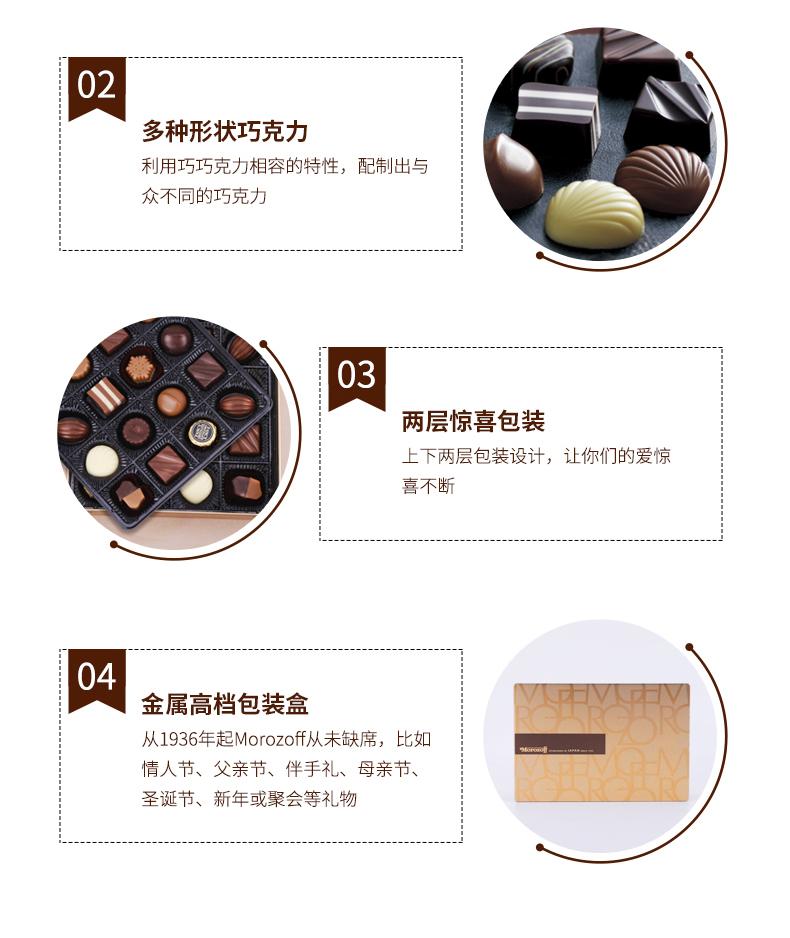 日本顶级伴手礼 摩洛索夫 坚果黑巧克力礼盒6颗 图10