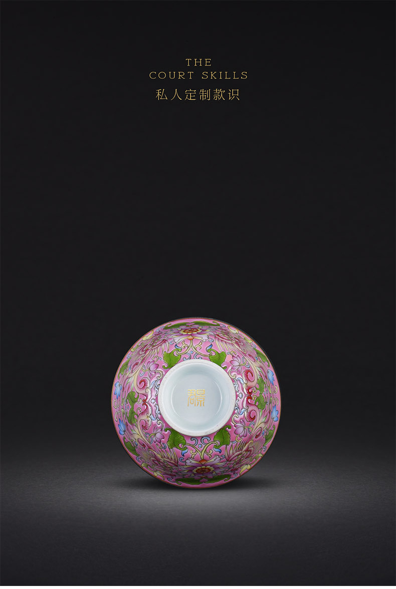 Jingdezhen ceramics single hand - made pastel design phoenix all hand tea cup cup host blue and white