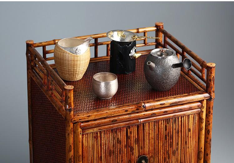 Merlot bamboo bamboo tea set to receive ark, tea stall shelf rich ancient frame literati play teahouse furnishing articles