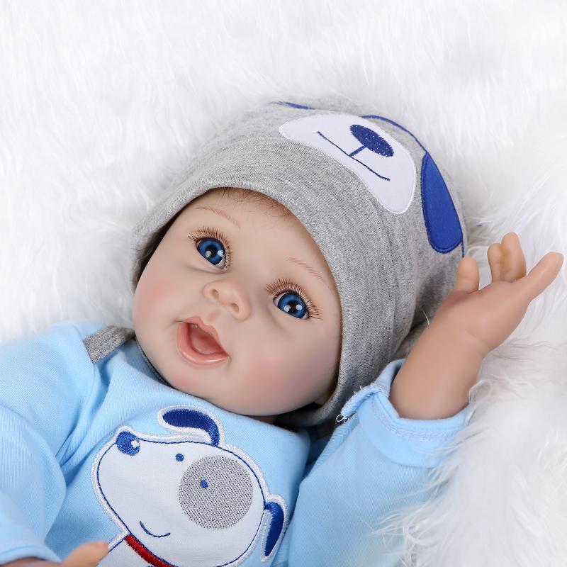 22''Handmade Lifelike Baby Boy Girl Silicone Vinyl Reborn ...