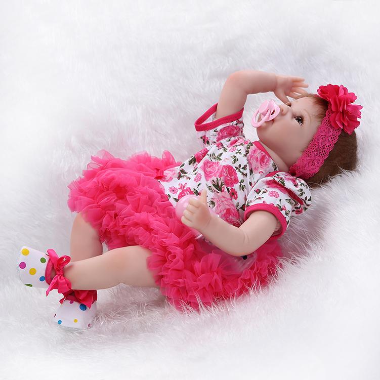 22 Handmade Lifelike Baby Girl Doll Silicone Vinyl Reborn
