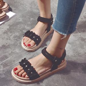 平底凉鞋女仙女风夏外穿时尚2020