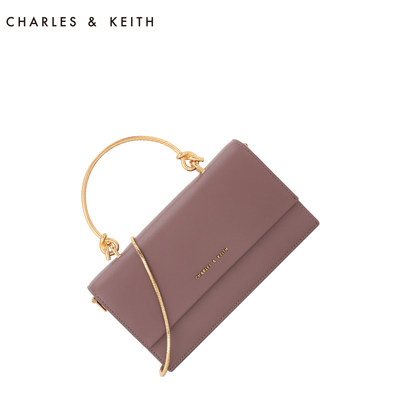 Charles / Keith Long Wallet ck6-10840136 fold over one shoulder carrying wallet small chain bag
