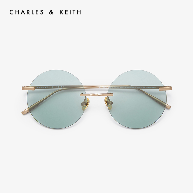 CHARLES and KEITH accessories CK3-31280376 European and American fashion round women's sunglasses