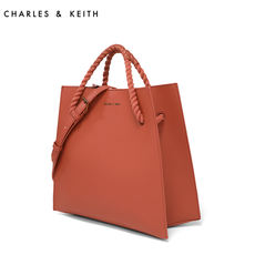 fb17b87b8fd6 CHARLES KEITH shoulder bag CK2-30780574 soft rope handle large capacity  trapezoidal handbag