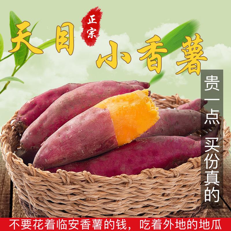 小香薯5斤10-80个左右黄心红薯新鲜临安小番薯板栗山芋地瓜非紫薯