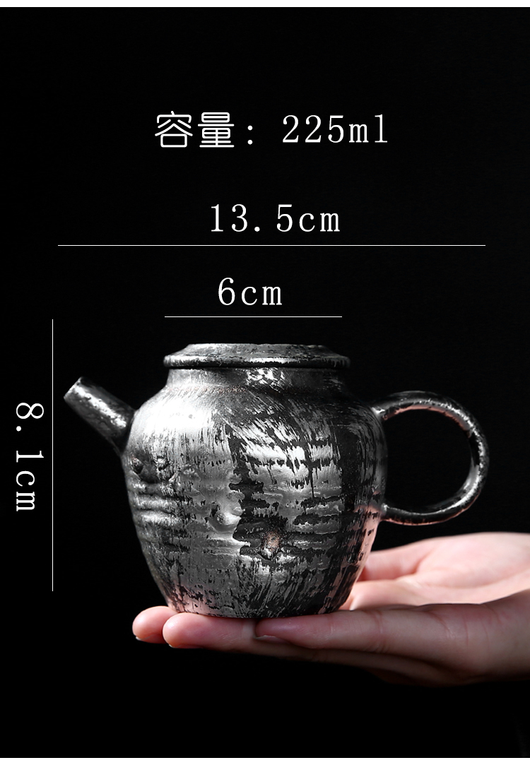 Tasted silver gilding ceramic teapot household kung fu tea set large filtering teapot archaize single pot of restoring ancient ways is creative and teapot