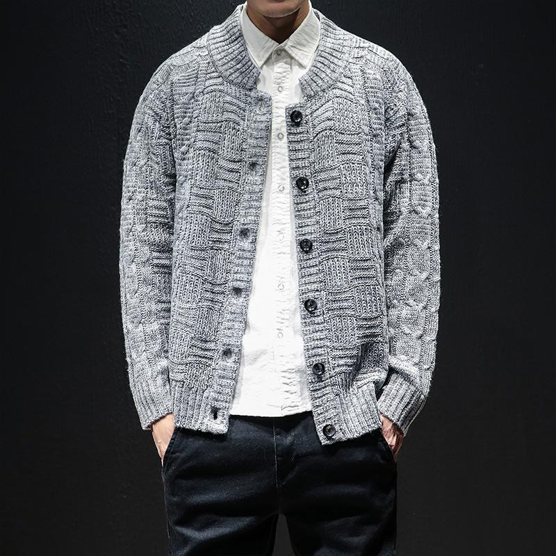 【初策】毛衣男开衫针织外套男休闲线衣
