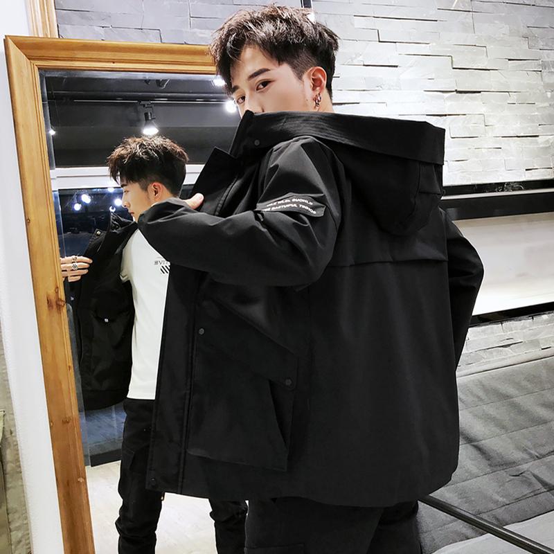 2019新款男士春季外套青少年韩版修身潮流短款青年春秋工装夹克