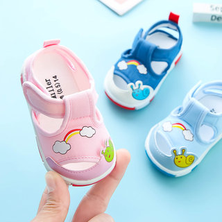Female baby sandals summer 0-1-12 years old baby cloth shoes soft bottom non-slip princess male baby shoes girl toddler spring