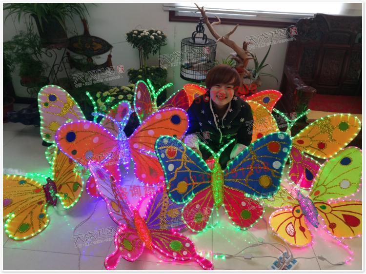 中小型彩灯蝴蝶造型灯光广场节日灯饰春节元宵民俗灯会灯展定制