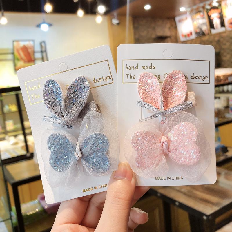 Princess cute bow side clip set NHCU284892