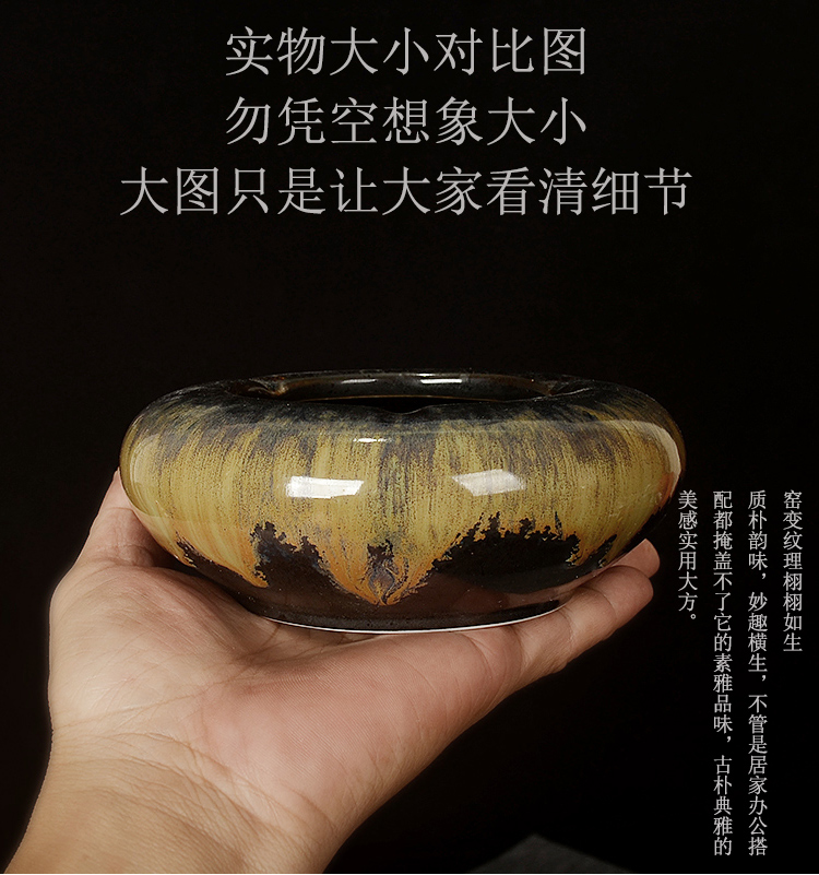 The Mini ceramic ashtray creative move tide restoring ancient ways of nostalgic fly ash up ashtray water planting potted flower pot
