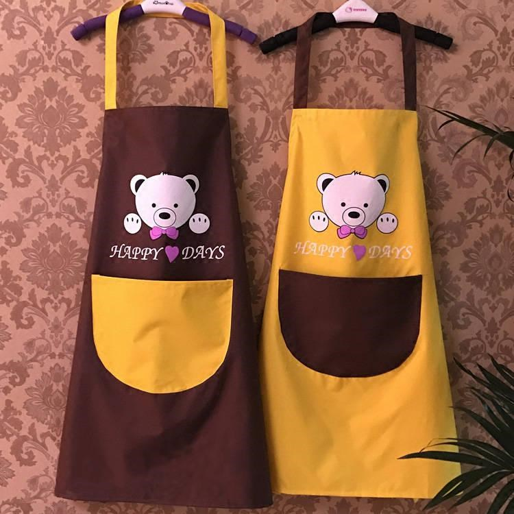 厨房围裙防水防油做饭罩衣咖啡厅大码荷叶边时尚店铺好看清洁家庭