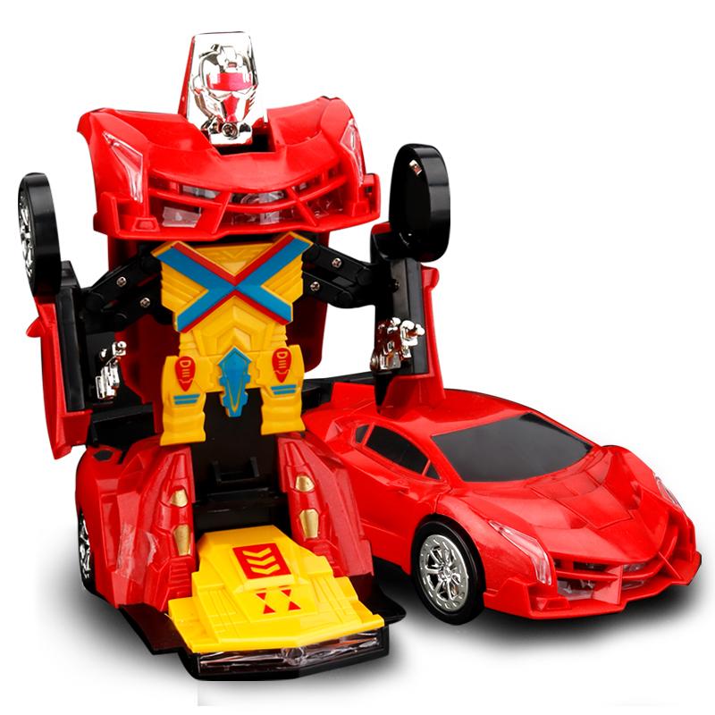 遥控变形车金刚机器人充电动儿童男孩玩具车