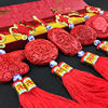 Beijing traditional lacquer lacquerware small Chinese knot car pendant jewelry Chinese style special gifts to send foreigners gifts