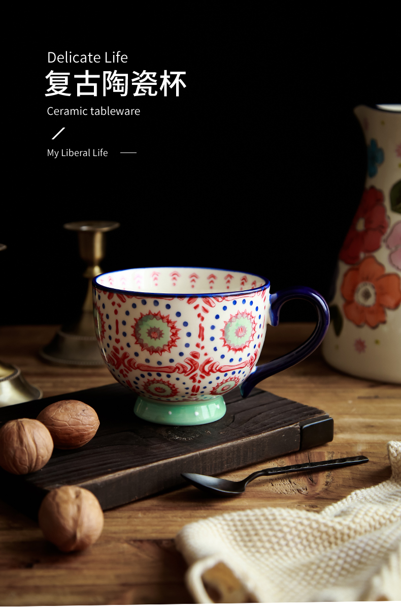 Northern wind restoring ancient ways ins ceramic office coffee cup oats cup cup home a bigger breakfast cup mark cup