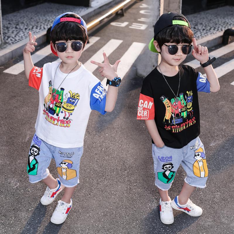 男童夏装套装帅气韩版2020新款3宝宝短袖衣服夏季5岁小儿童帅气潮