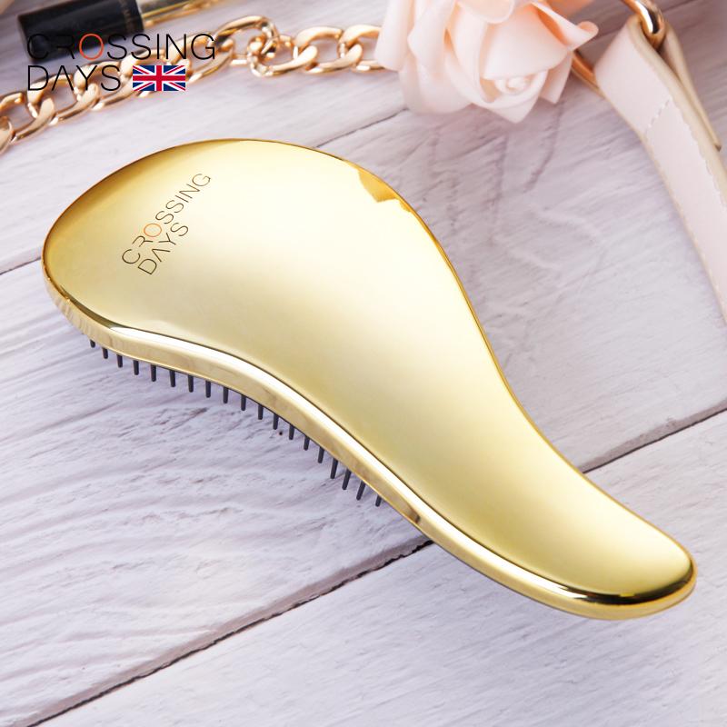 英国CROSSINGDAYS正品按摩顺发便携tt小梳子女美发卷发造型密齿梳