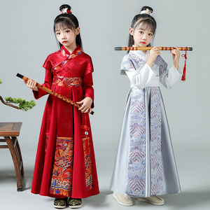 Children chinese hanfu prince robes for boy Tang costumes for boy ang girl ancient Hanfu swordsman suit long sleeve dress for kids