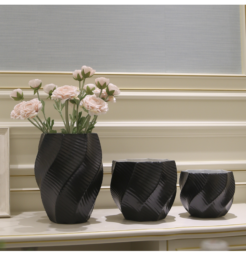 Jingdezhen contracted furnishing articles creative porcelain ceramic vase sitting room porch simulation flower arranging Chinese style household ornaments