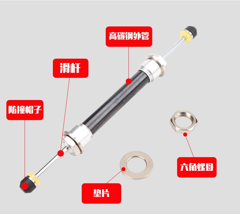 『鑫盛五金』雙向油壓緩沖器機械手配件雙向氣缸ACD2035-2 ACD2050-2W減震器#家裝五金配件 #熱賣推薦