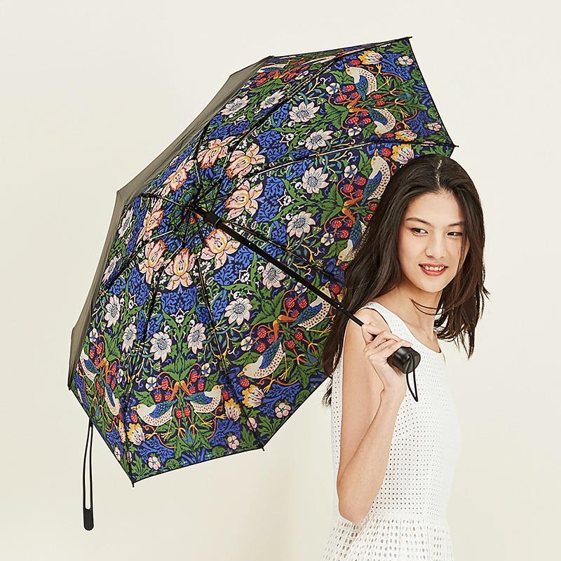 V&A博物馆草莓小偷系列晴雨两用5折口袋伞日常防晒创意母亲节礼物