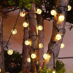 Colorful lights flashing lights string lights starry sky outdoor decoration hanging tree decoration lights colorful flashing color changing solar star lights