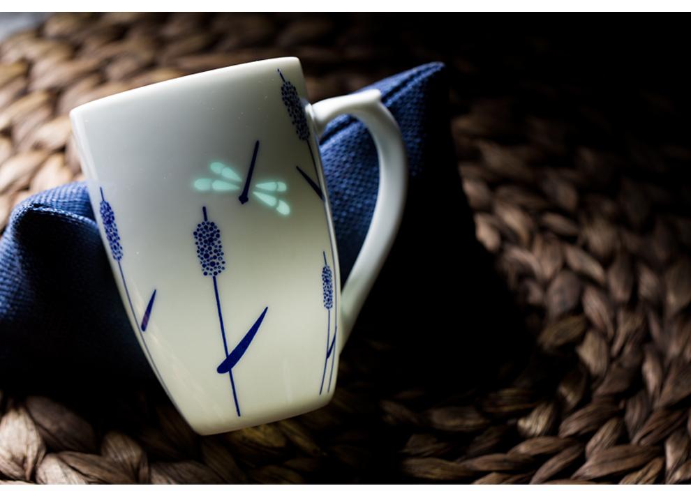 景德镇官方旗舰店青花陶瓷茶杯办公室会议家用水杯不带盖玲珑杯子