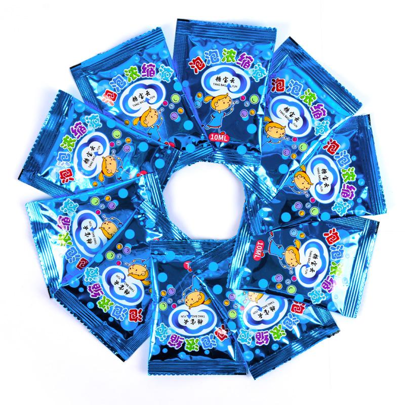 10袋泡泡水补充液浓缩液七彩泡泡液