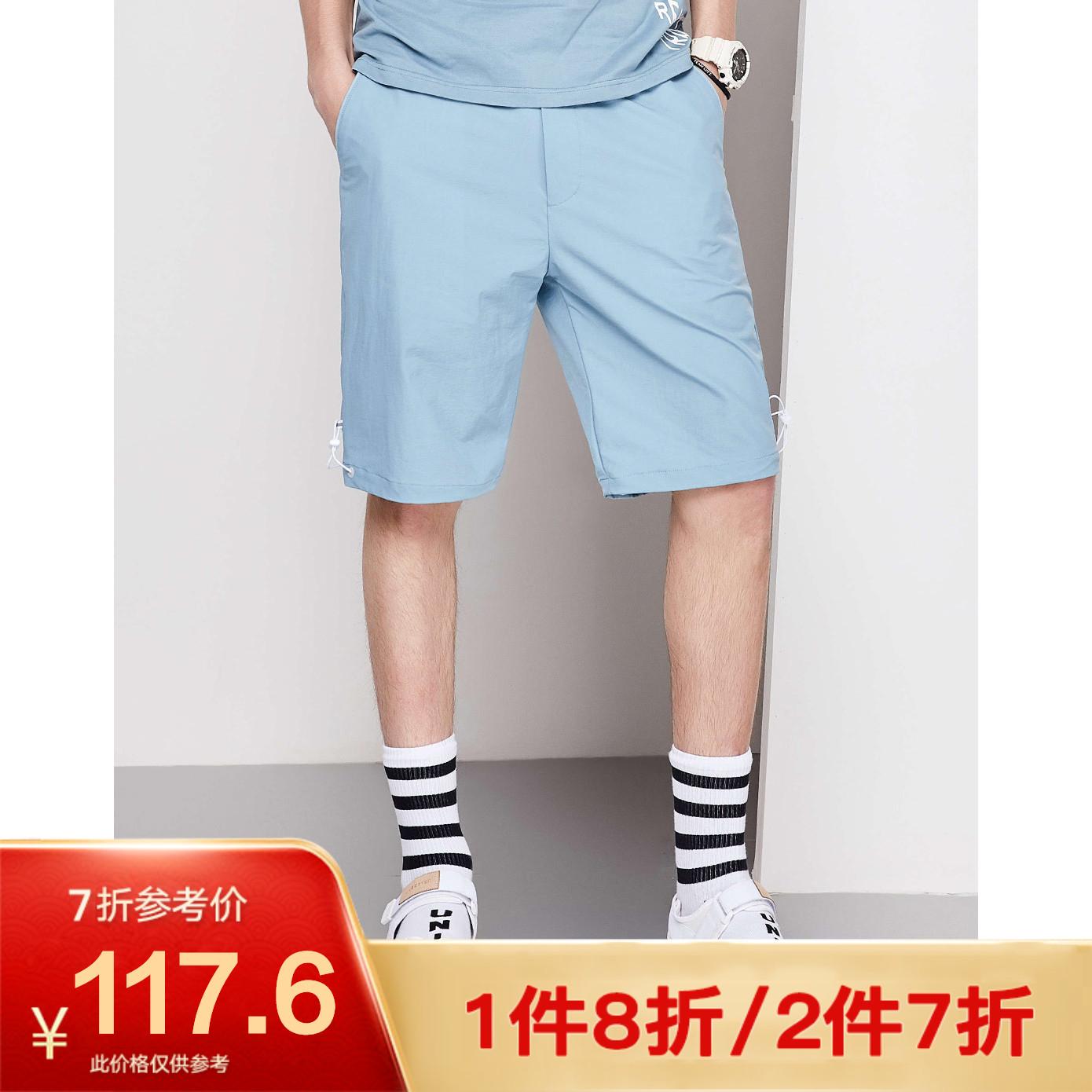 【秒杀】马克华菲男装夏季v男装男短裤裤子a男装颜色