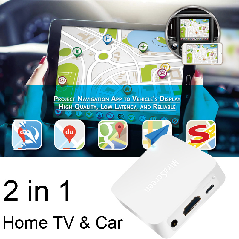 Details about Car Wireless WiFi Display Mirror Link Adapter DLNA Airplay  RCA iOS Android to TV