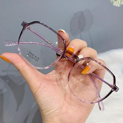 防辐射蓝光可配有度数素颜显瘦平光护目近视眼镜女眼睛框架男韩版