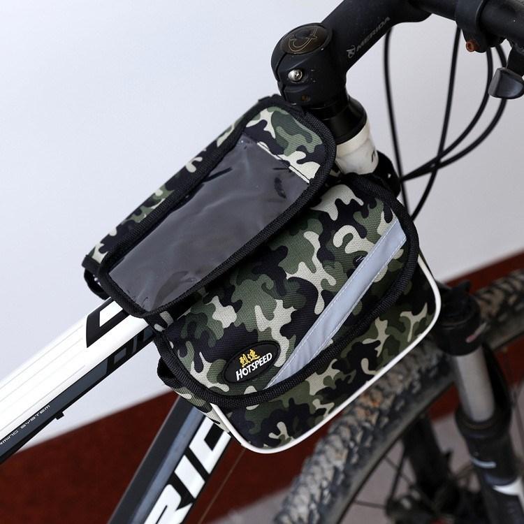 新款自行车包迷彩山地自行车上管包赛车前包马鞍包双边横梁包包邮
