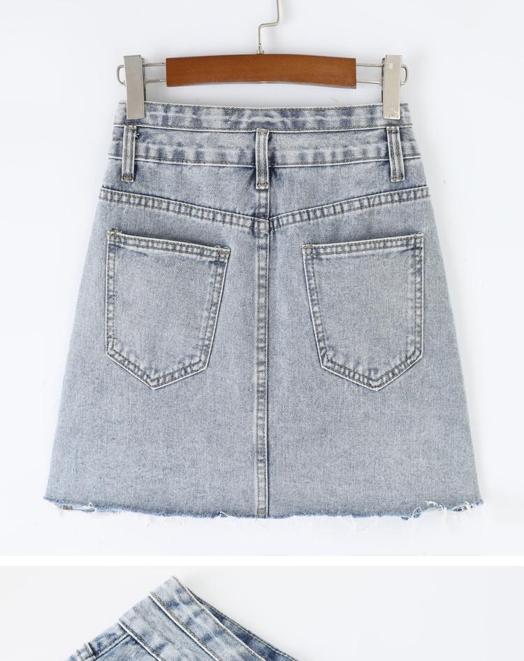 爱上特种兵李沁同款裙子2021夏季新款高腰a字防走光牛仔半身裤裙