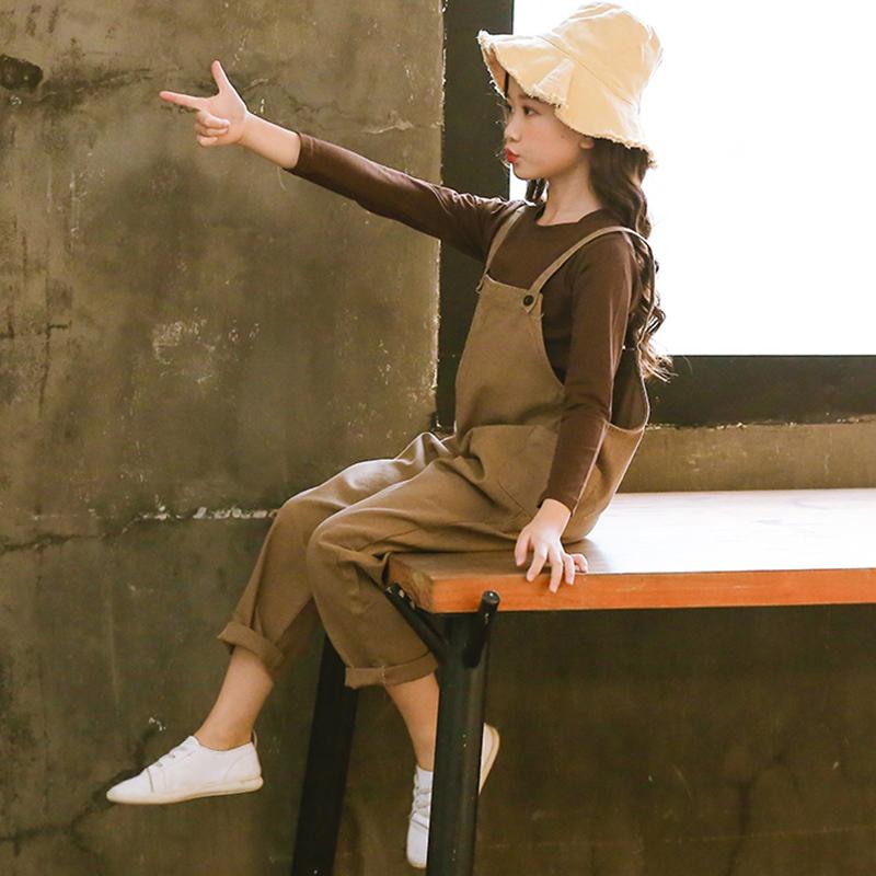 女童背带裤套装2019新款超洋气时髦中大童女孩韩版春秋儿童春装潮_天猫超市优惠券