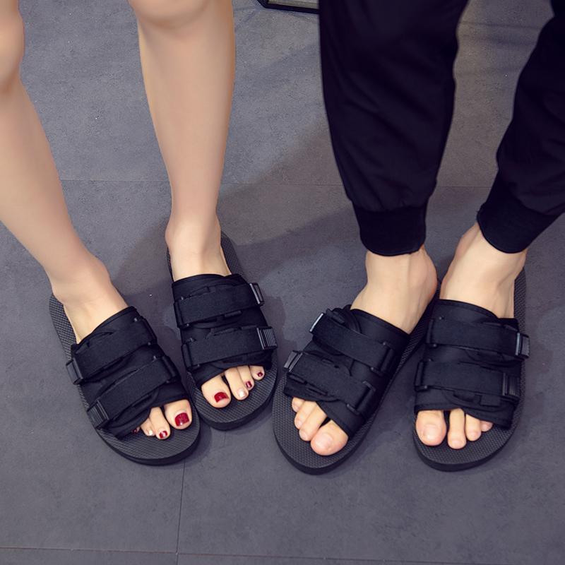 网红拖鞋外穿夏一字拖鞋男女室外凉拖情侣沙滩拖鞋越南人字拖防滑