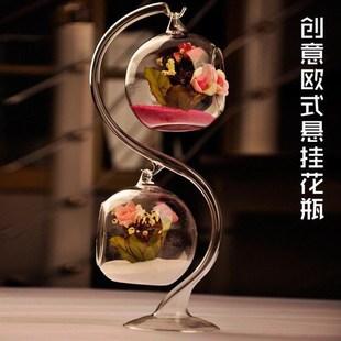 电视柜酒柜装饰品摆件玻璃艺术工艺品创意欧式客厅花瓶家居饰品