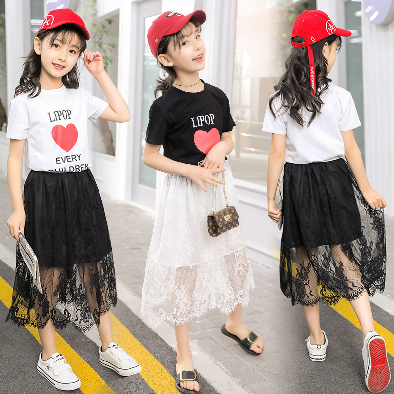 8套装装10童女9女童短袖夏天4到12岁大短裙装11夏季7夏装小女孩子