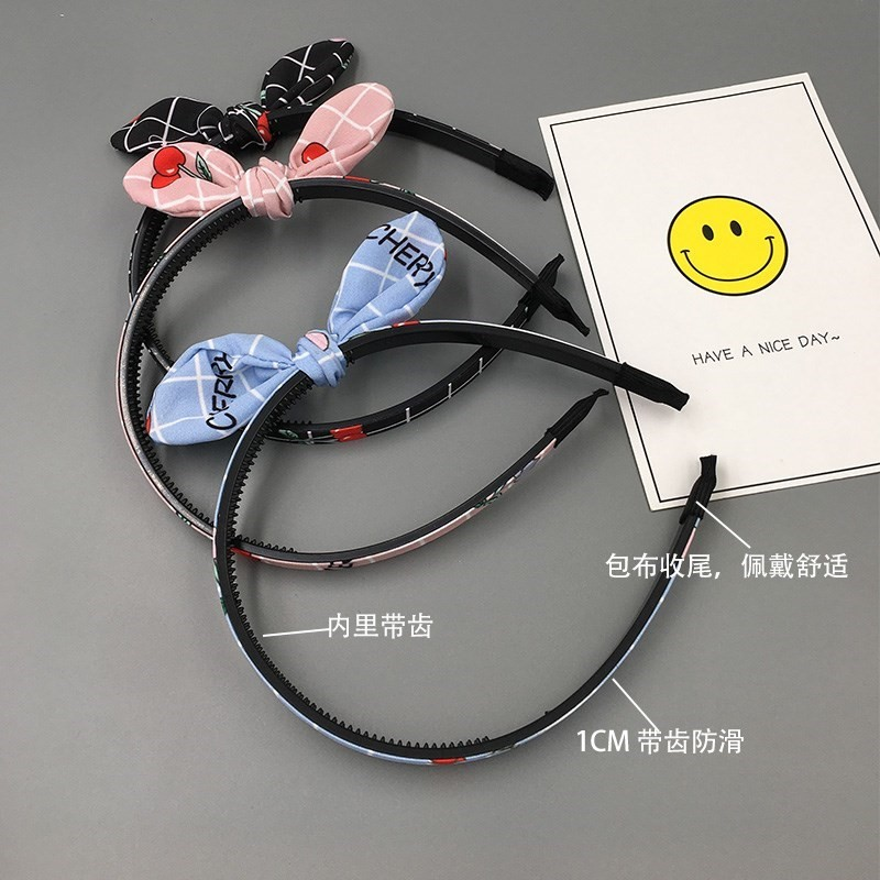 Children's hair hoop girls hairpin head hoop Korean non-slip girl hair cave Princess headdress hairpin students can be