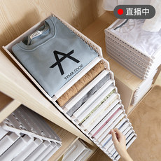 Clothes closet finishing frame plate stack folding clothes lazy t-shirts shirts sweaters folded garment pants artifact housing plate smokable